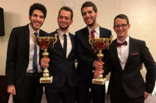 Israelíes derrotana universitarios europeos