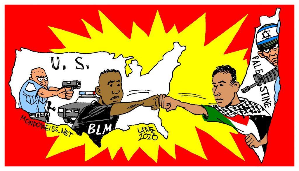 Pancarta negros palestinos